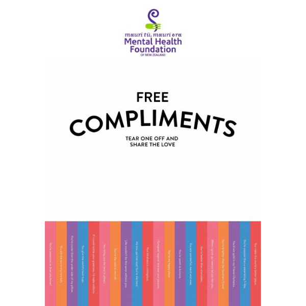 Compliments poster white