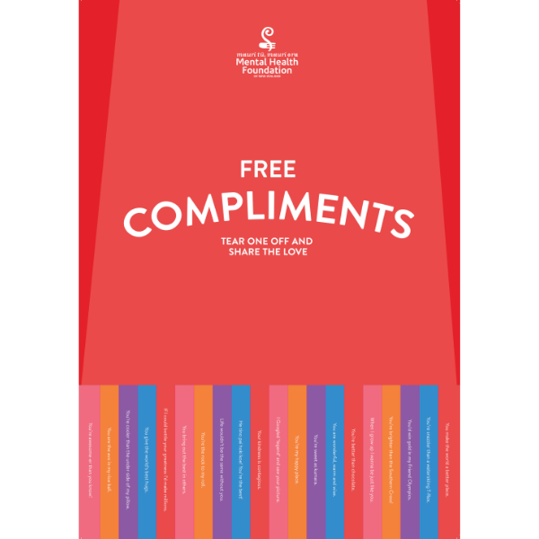 Compliments poster red